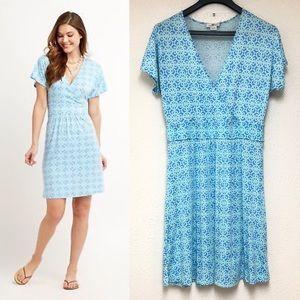 Vineyard Vines Railing Print Wrap Dress Size Large